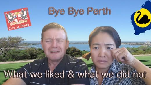 Bye bye Perth