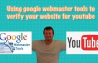 Verifying website in youtube