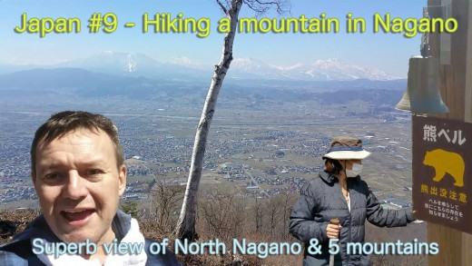 Hiking near Obuse Nagano