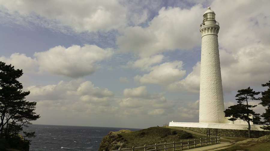 One of the largest remaining old lighthouses in Japan
