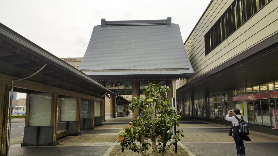 "Arriving at Izumo from Tokyo on the overnight train ""Sunrise Izumo"""