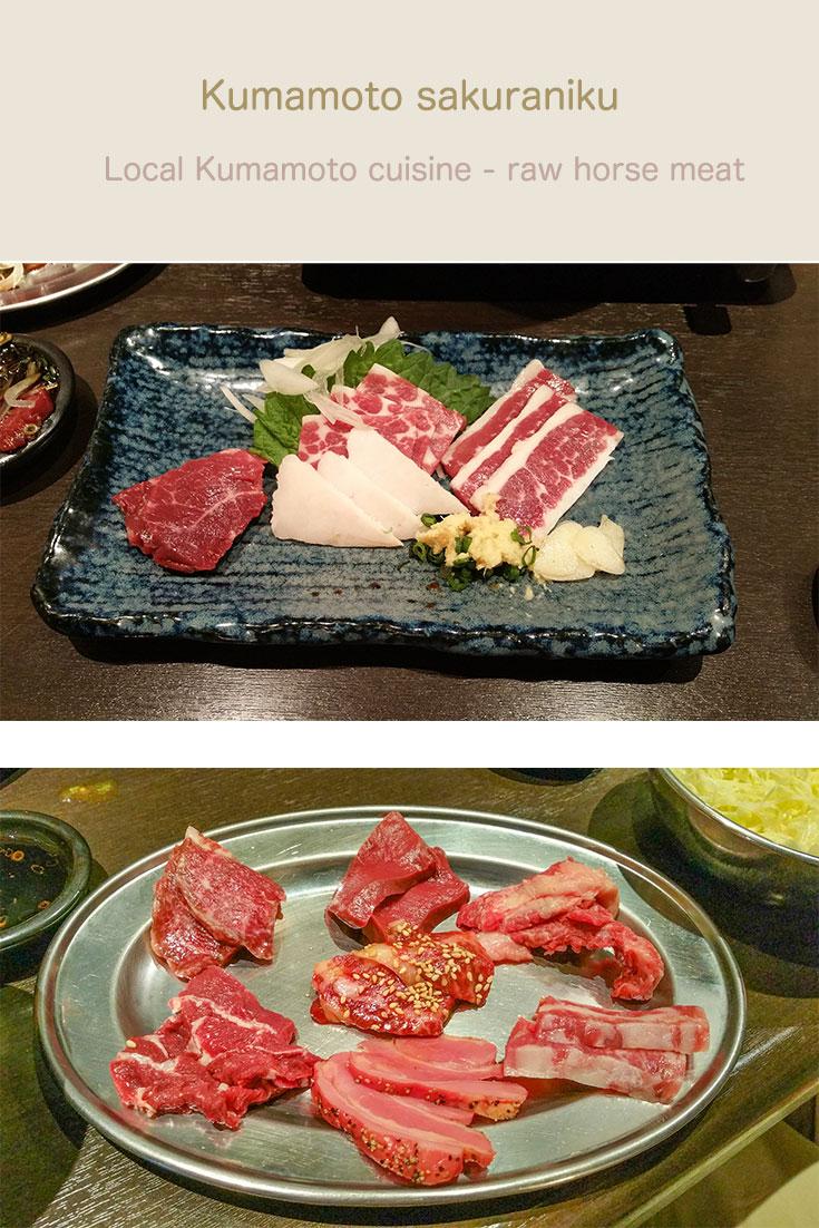 Kumamoto raw horse meat.