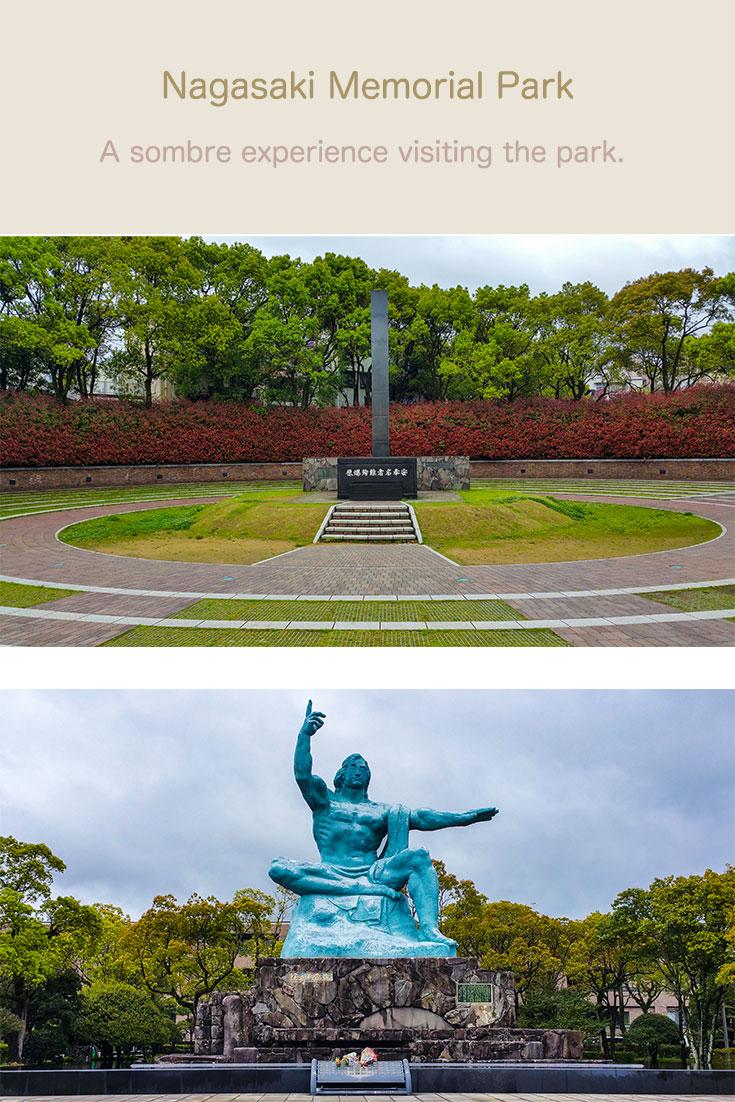 Nagasaki atomic bomb memorial park.