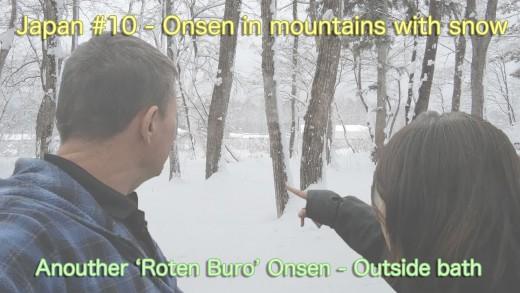 Nagano snowy mountain onsen