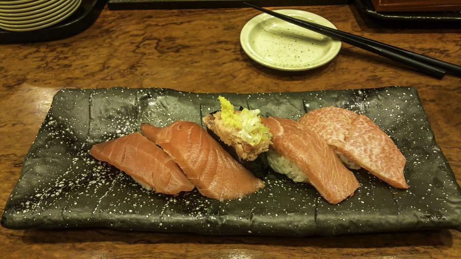 High quality tuna sushi