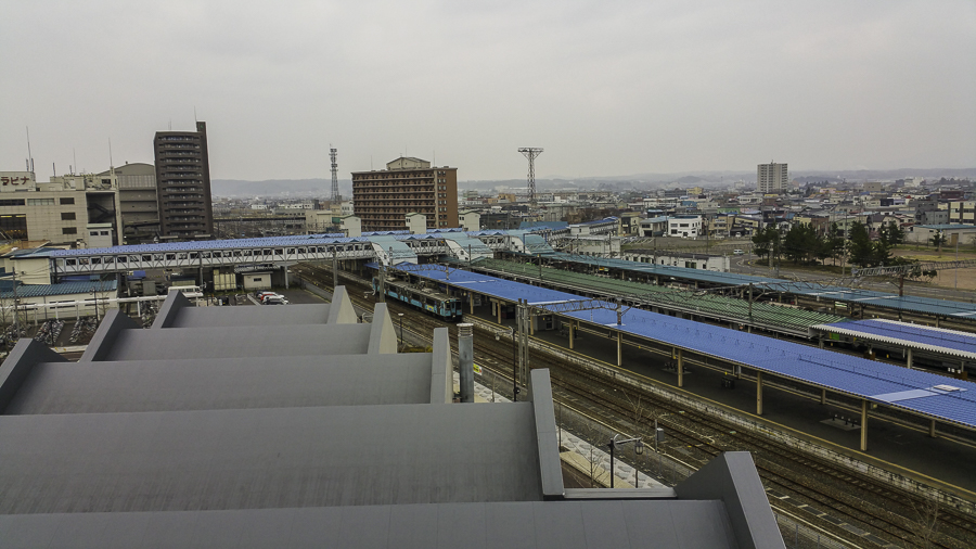 View of Aomori train station