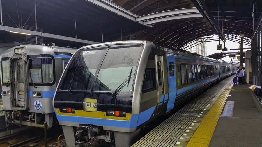 Shikoku train to Okayama